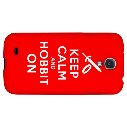 Red Hobbit On - Geeks Designer Line Keep Calm Series Hard Back Case for Samsung Galaxy S4
