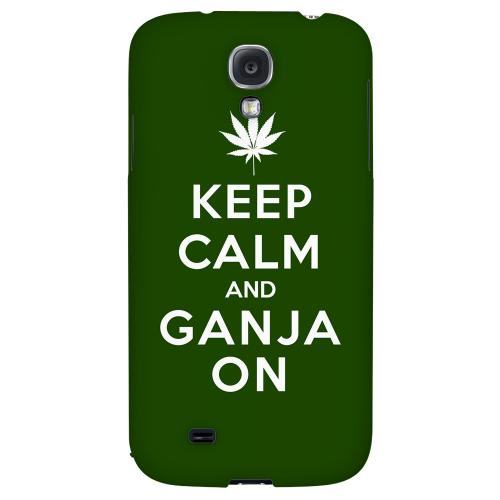 Green Ganja On - Geeks Designer Line Keep Calm Series Hard Back Case for Samsung Galaxy S4
