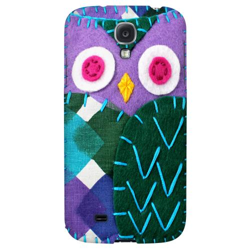 Purple/ Green Owl - Geeks Nation Program Jodie Rackley Series Hard Back Case for Samsung Galaxy S4