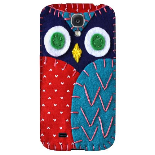 Dark Blue/ Red Owl - Geeks Nation Program Jodie Rackley Series Hard Back Case for Samsung Galaxy S4