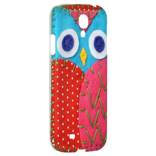 Sky Blue/ Pink Owl - Geeks Nation Program Jodie Rackley Series Hard Back Case for Samsung Galaxy S4