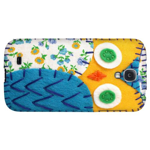 Gold/ Blue Owl - Geeks Nation Program Jodie Rackley Series Hard Back Case for Samsung Galaxy S4