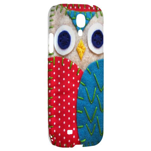White/ Blue Owl - Geeks Nation Program Jodie Rackley Series Hard Back Case for Samsung Galaxy S4