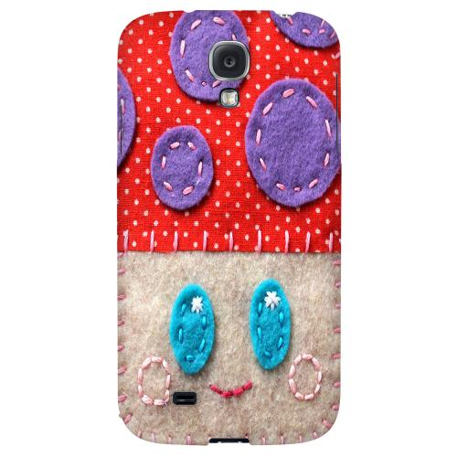 Red/ Purple Mushroom - Geeks Nation Program Jodie Rackley Series Hard Back Case for Samsung Galaxy S4