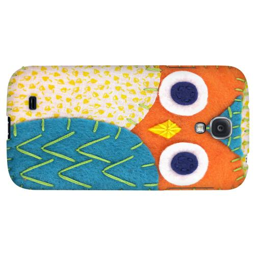 Orange/ Blue Owl - Geeks Nation Program Jodie Rackley Series Hard Back Case for Samsung Galaxy S4