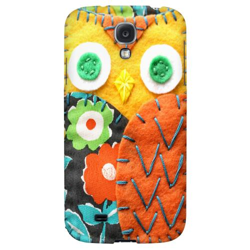 Yellow/ Orange Owl - Geeks Nation Program Jodie Rackley Series Hard Back Case for Samsung Galaxy S4