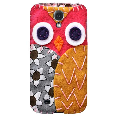 Hot Pink/ Dark Blue Owl - Geeks Nation Program Jodie Rackley Series Hard Back Case for Samsung Galaxy S4
