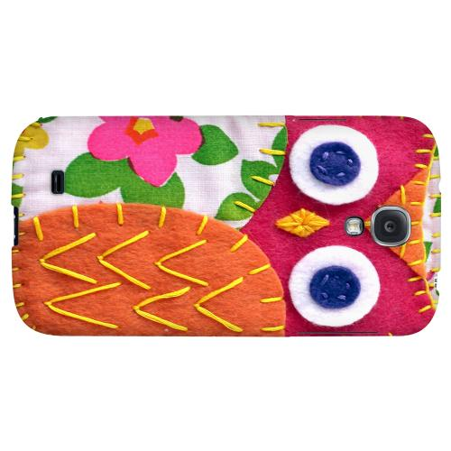 Hot Pink/ Green Owl - Geeks Nation Program Jodie Rackley Series Hard Back Case for Samsung Galaxy S4