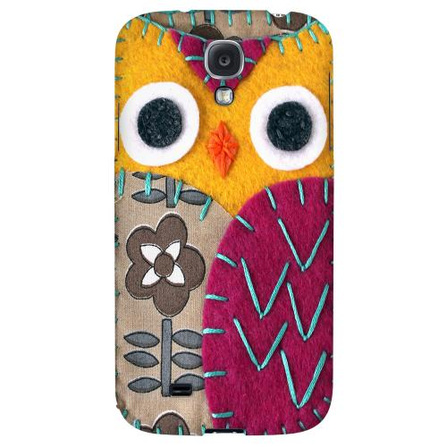 Yellow/ Purple Owl - Geeks Nation Program Jodie Rackley Series Hard Back Case for Samsung Galaxy S4