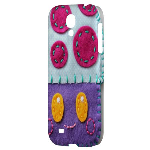 Purple/ Pink Mushroom - Geeks Nation Program Jodie Rackley Series Hard Back Case for Samsung Galaxy S4