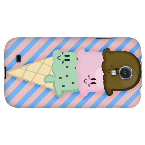 Triple Scoop Ice Cream Cone - Geeks Designer Line Candy Series Hard Back Case for Samsung Galaxy S4