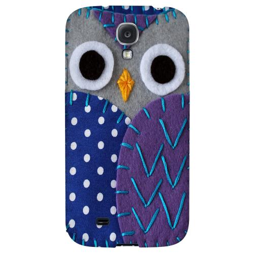 Gray/ Purple Owl - Geeks Nation Program Jodie Rackley Series Hard Back Case for Samsung Galaxy S4