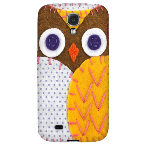 Brown/ Orange Owl - Geeks Nation Program Jodie Rackley Series Hard Back Case for Samsung Galaxy S4