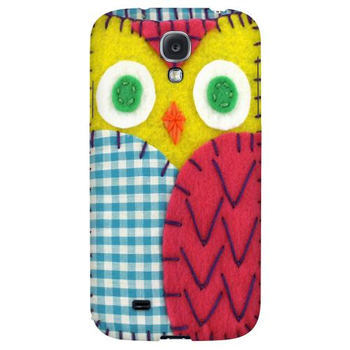 Yellow/ Maroon Owl - Geeks Nation Program Jodie Rackley Series Hard Back Case for Samsung Galaxy S4