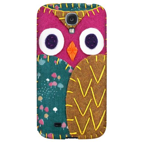 Hot Pink/ Brown Owl - Geeks Nation Program Jodie Rackley Series Hard Back Case for Samsung Galaxy S4