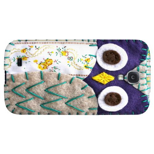 Blue/ Gray Owl - Geeks Nation Program Jodie Rackley Series Hard Back Case for Samsung Galaxy S4