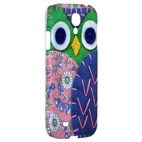 Green/ Blue Owl - Geeks Nation Program Jodie Rackley Series Hard Back Case for Samsung Galaxy S4