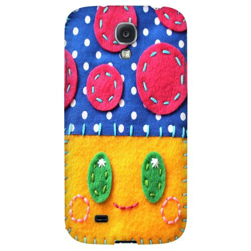 Blue/ Yellow Mushroom - Geeks Nation Program Jodie Rackley Series Hard Back Case for Samsung Galaxy S4