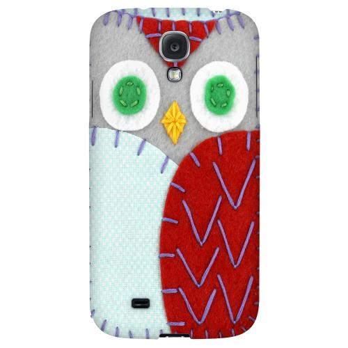 Gray/ Red Owl - Geeks Nation Program Jodie Rackley Series Hard Back Case for Samsung Galaxy S4