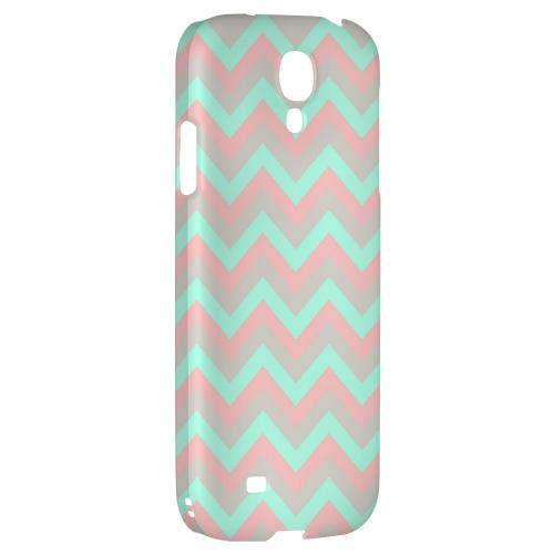 Green on Pink on Gray - Geeks Designer Line Zig Zag Series Hard Back Case for Samsung Galaxy S4