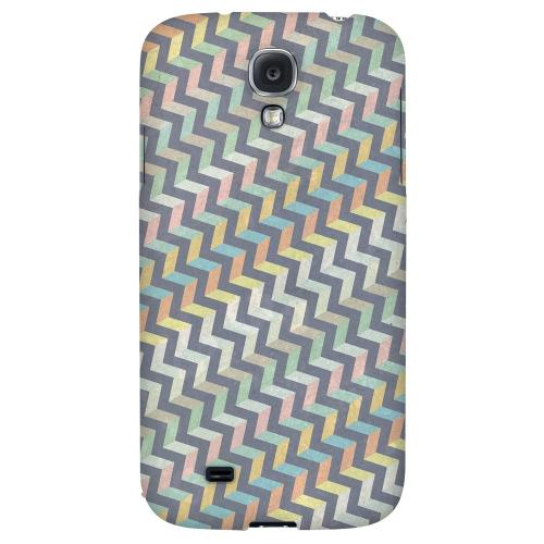 Grungy Pastel Steps - Geeks Designer Line Zig Zag Series Hard Back Case for Samsung Galaxy S4