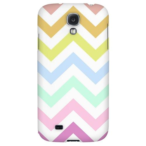 Pastel on White - Geeks Designer Line Zig Zag Series Hard Back Case for Samsung Galaxy S4