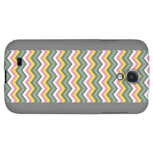 Pink/ Yellow/ Gray/ Green - Geeks Designer Line Zig Zag Series Hard Back Case for Samsung Galaxy S4