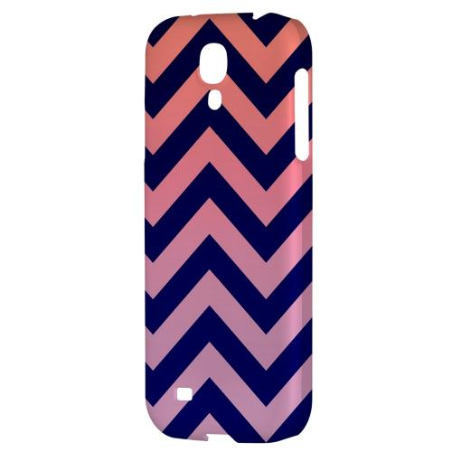 Pink/ Navy Blue Gradient - Geeks Designer Line Zig Zag Series Hard Back Case for Samsung Galaxy S4