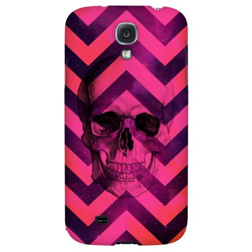 Pink Space Death - Geeks Designer Line Zig Zag Series Hard Back Case for Samsung Galaxy S4