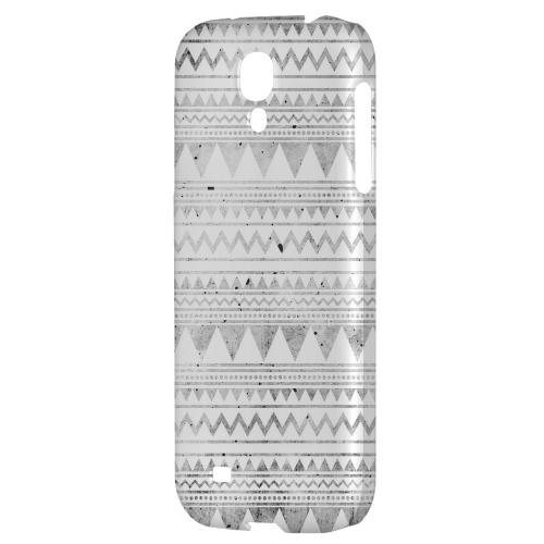 Grungy Triangles - Geeks Designer Line Zig Zag Series Hard Back Case for Samsung Galaxy S4