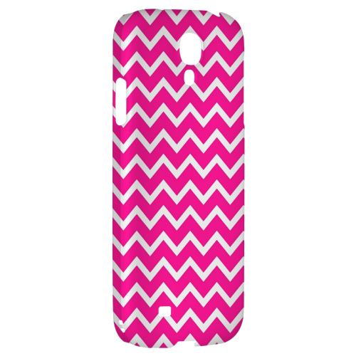 White on Hot Pink - Geeks Designer Line Zig Zag Series Hard Back Case for Samsung Galaxy S4