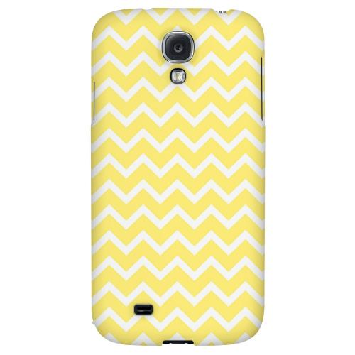 White on Yellow - Geeks Designer Line Zig Zag Series Hard Back Case for Samsung Galaxy S4