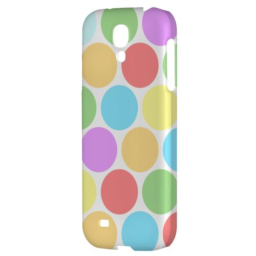 Big & Rainbow on White - Geeks Designer Line Polka Dot Series Hard Back Case for Samsung Galaxy S4