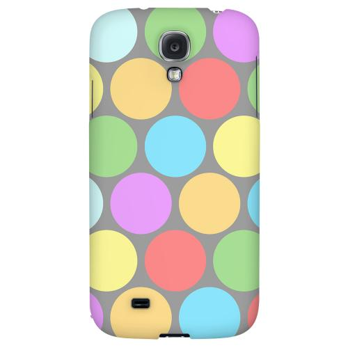 Big & Rainbow on Gray - Geeks Designer Line Polka Dot Series Hard Back Case for Samsung Galaxy S4