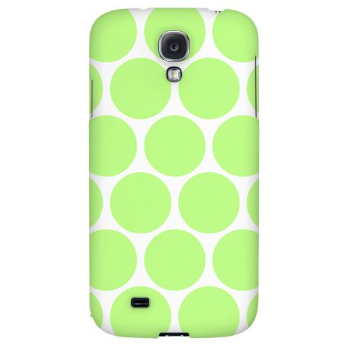 Big & Lime Green - Geeks Designer Line Polka Dot Series Hard Back Case for Samsung Galaxy S4