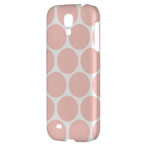 Big & Baby Pink - Geeks Designer Line Polka Dot Series Hard Back Case for Samsung Galaxy S4
