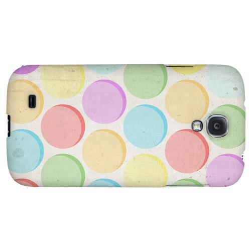 Grungy & Rainbow - Geeks Designer Line Polka Dot Series Hard Back Case for Samsung Galaxy S4