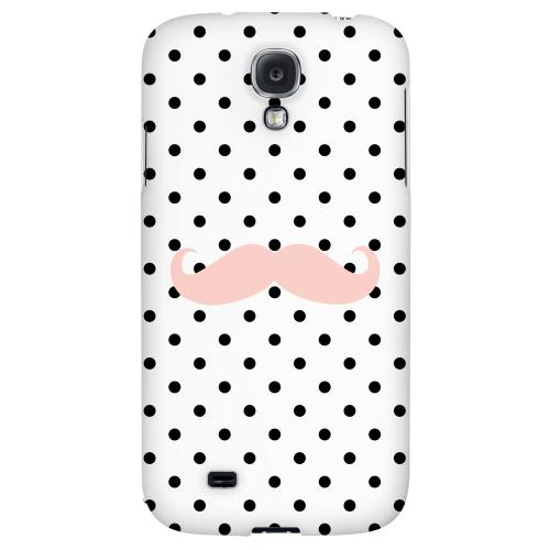 Pink Stache - Geeks Designer Line Polka Dot Series Hard Back Case for Samsung Galaxy S4