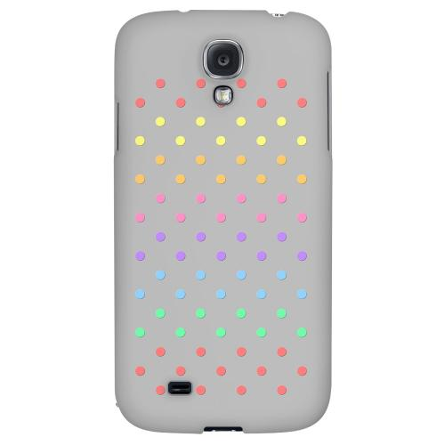Rainbow Dots on Gray - Geeks Designer Line Polka Dot Series Hard Back Case for Samsung Galaxy S4
