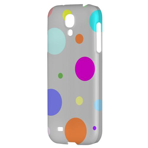 Random & Rainbow on Gray - Geeks Designer Line Polka Dot Series Hard Back Case for Samsung Galaxy S4