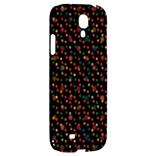 Faded Rainbow Dots on Black - Geeks Designer Line Polka Dot Series Hard Back Case for Samsung Galaxy S4