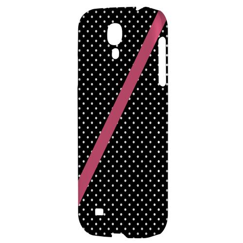 Pink Diagonal Stripe - Geeks Designer Line Polka Dot Series Hard Back Case for Samsung Galaxy S4