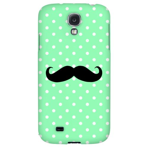 Stache on Mint - Geeks Designer Line Polka Dot Series Hard Back Case for Samsung Galaxy S4