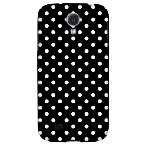 White Dots on Black - Geeks Designer Line Polka Dot Series Hard Back Case for Samsung Galaxy S4