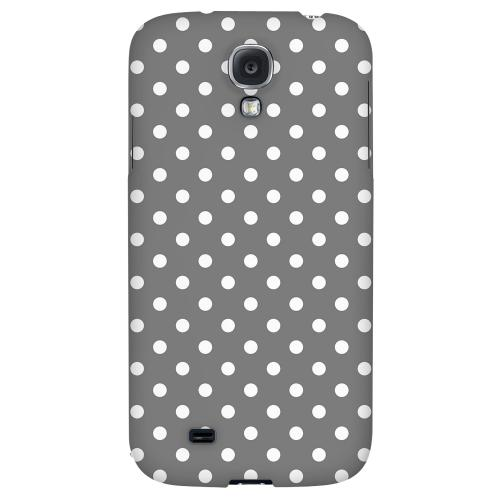 White Dots on Gray - Geeks Designer Line Polka Dot Series Hard Back Case for Samsung Galaxy S4