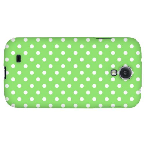 White Dots on Green - Geeks Designer Line Polka Dot Series Hard Back Case for Samsung Galaxy S4