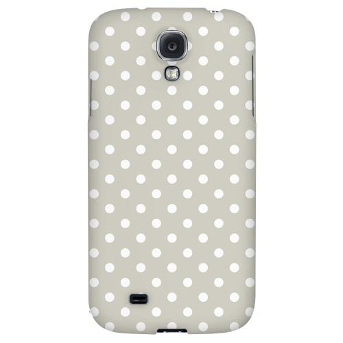 White Dots on Khaki - Geeks Designer Line Polka Dot Series Hard Back Case for Samsung Galaxy S4
