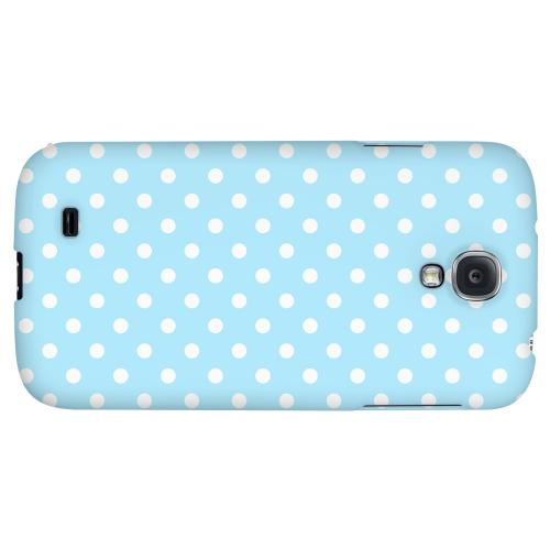 White Dots on Sky Blue - Geeks Designer Line Polka Dot Series Hard Back Case for Samsung Galaxy S4