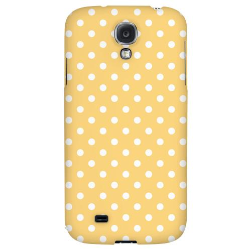 White Dots on Orange - Geeks Designer Line Polka Dot Series Hard Back Case for Samsung Galaxy S4