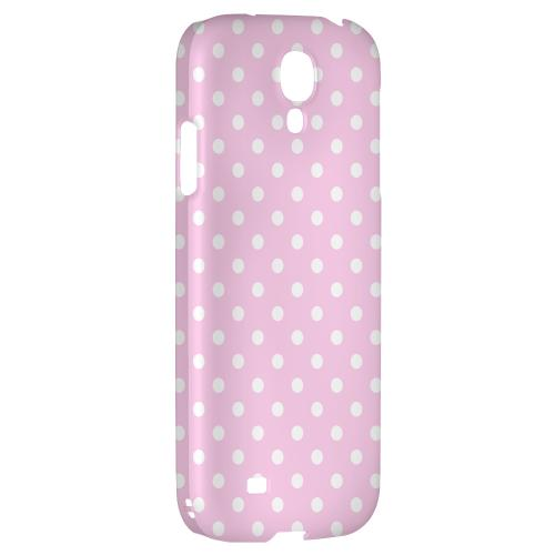 White Dots on Baby Pink - Geeks Designer Line Polka Dot Series Hard Back Case for Samsung Galaxy S4